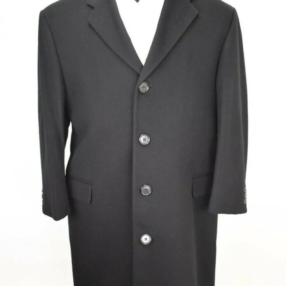 Burberry London Other - 42S Burberry London Black Trench Coat FLANNEL COAT